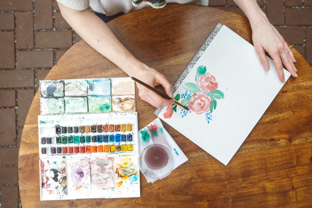 painting flowers in watercolor on the best paper