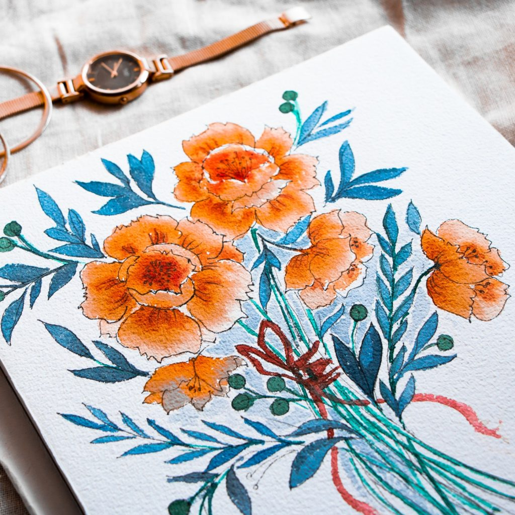 watercolor paper and painting 8