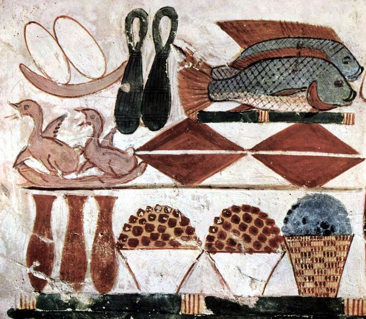 Still Life paintings discovered was in the Tomb of Menna