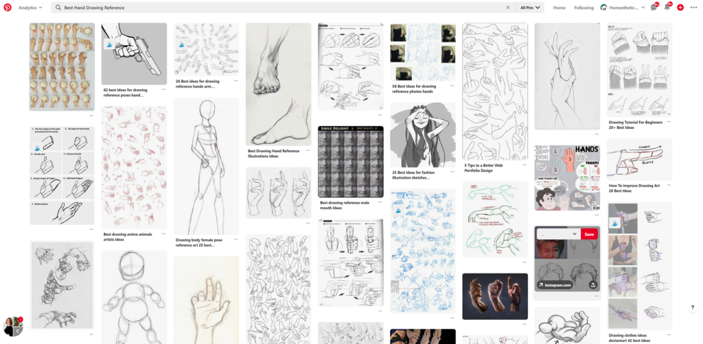 hand drawing reference website pinterest