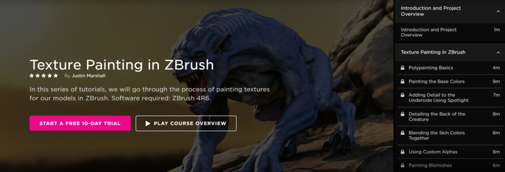 texture painting zbrush