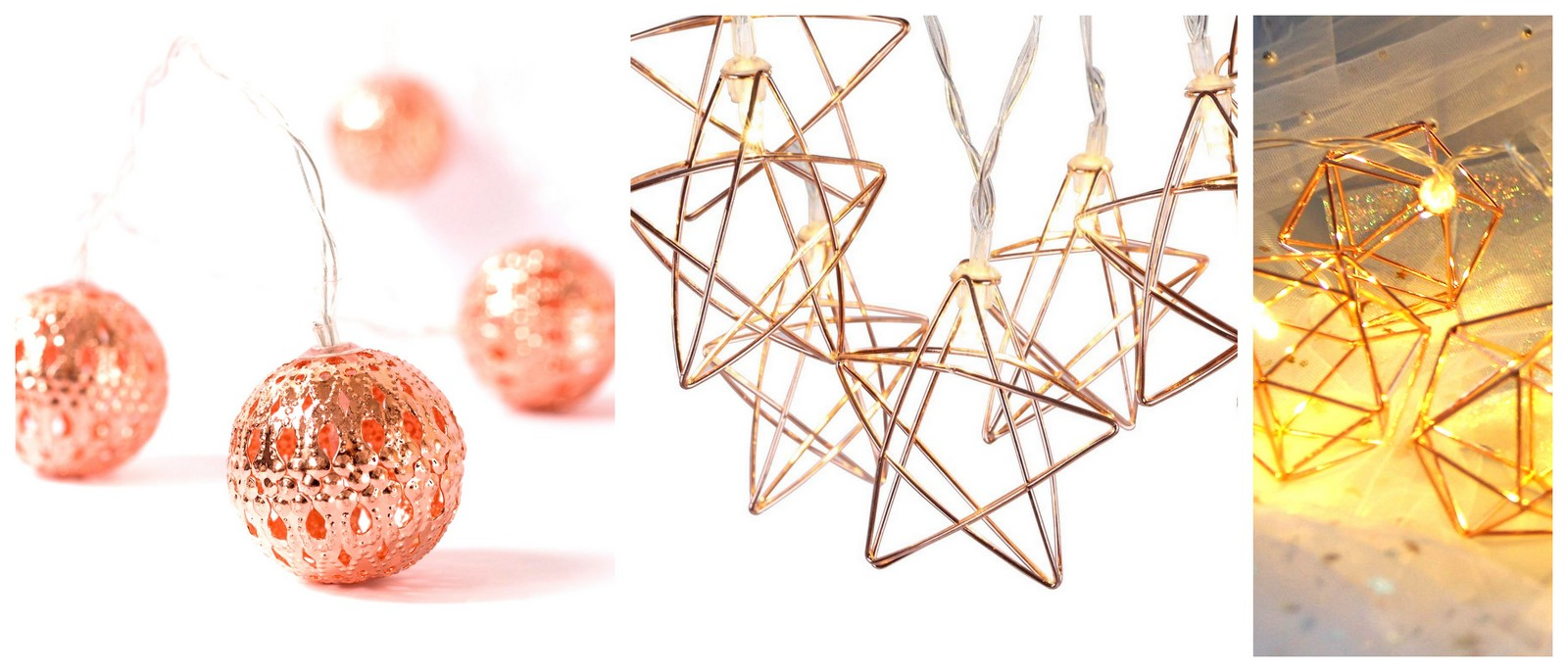 Best Christmas Copper Rose Gold Finish Decorations