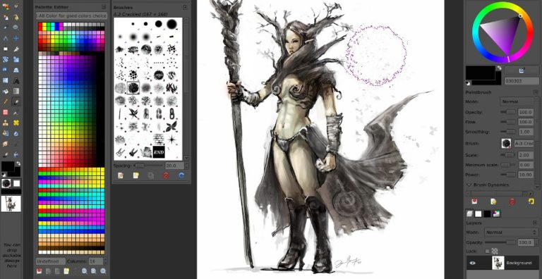 Best Free GIMP Brushes for Drawing Painting 1