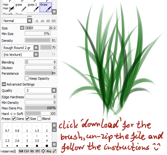 Best Paint Tool SAI Brushes and Textures