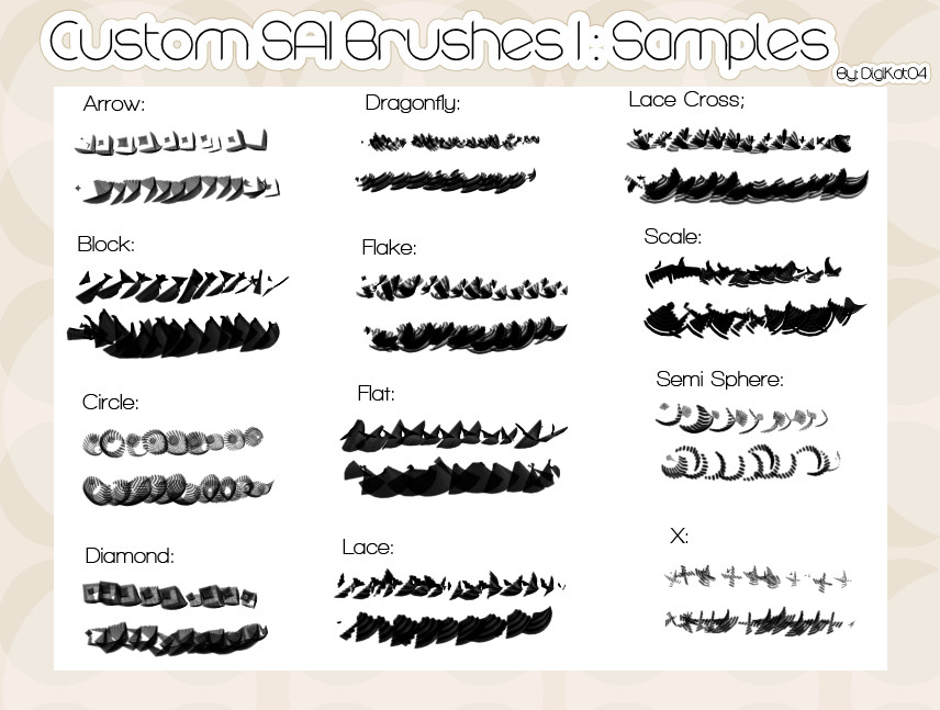 Custom SAI Brushes