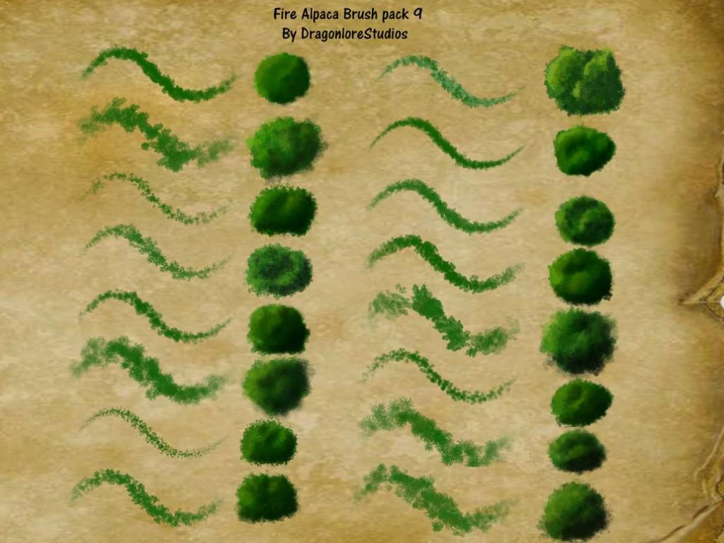 Fire ALpaca Brush Pack # 9 from DragonLoreStudios