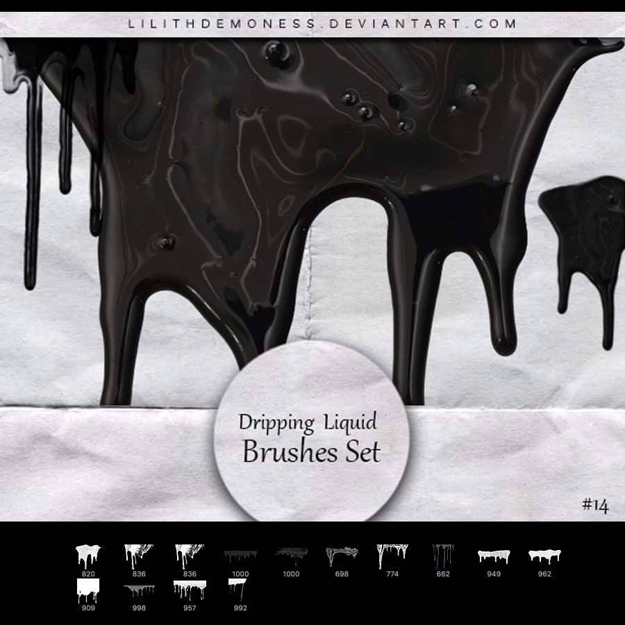 33. Dripping Paint Brushes