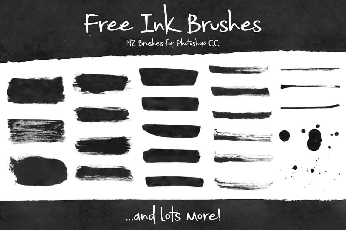 39. Free Ink Brushes for Photoshop