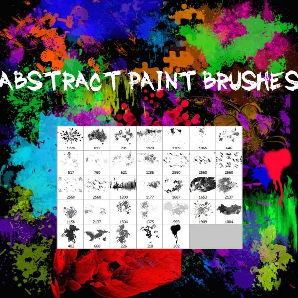 abstract paint brushes 6832799