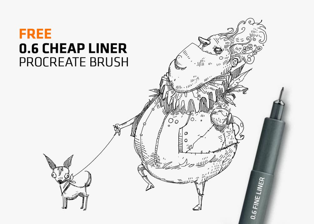 procreate cheap liner preview