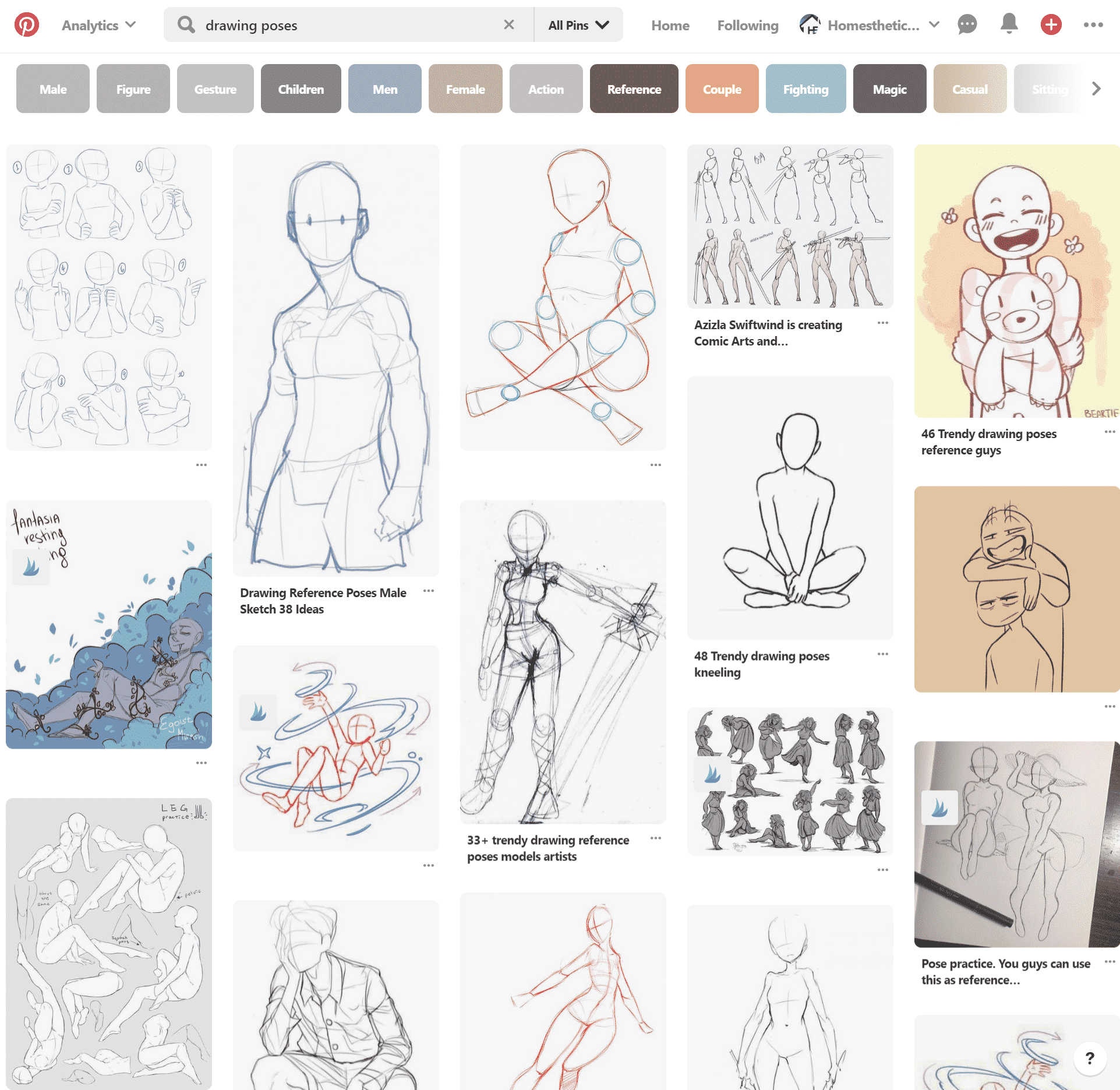 website drawing poses pinterest