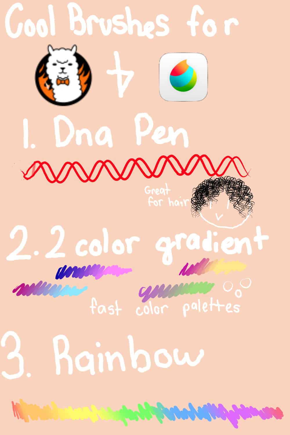 52. DNA Pen 2 Color Gradient and Rainbow Brushes