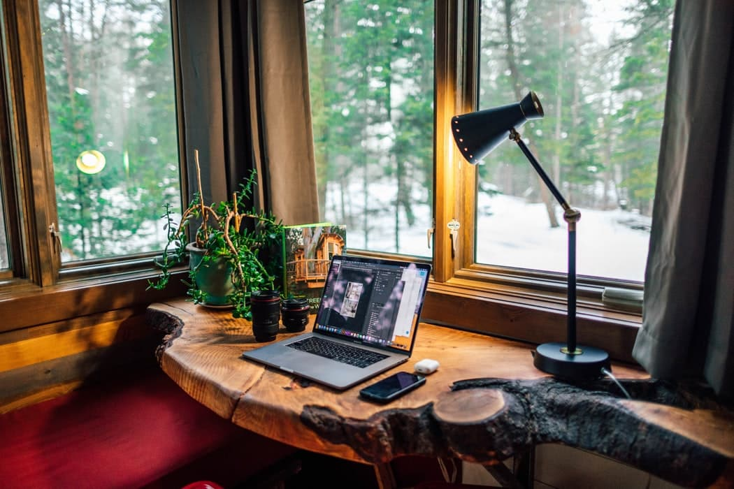 home office rustic