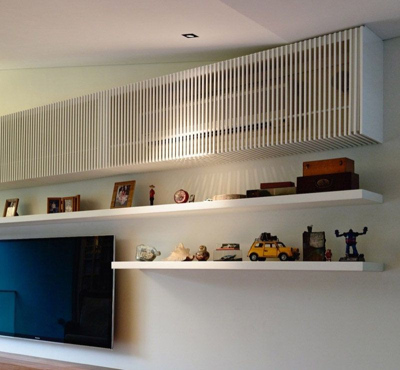 Slatted Wall Panel AC Unit Cover