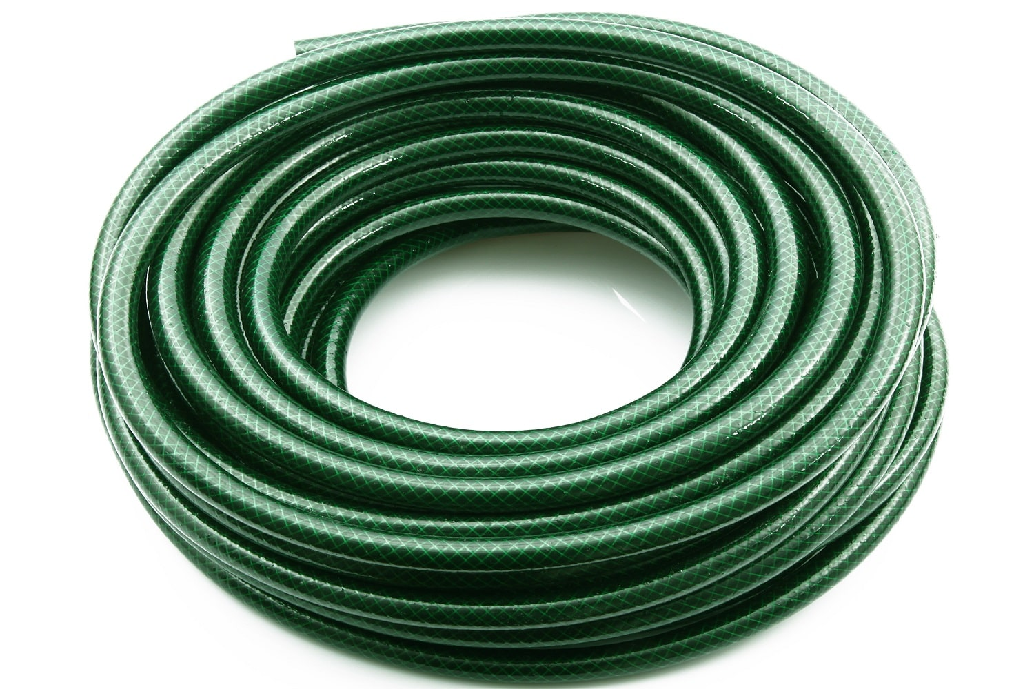 water hose on white background