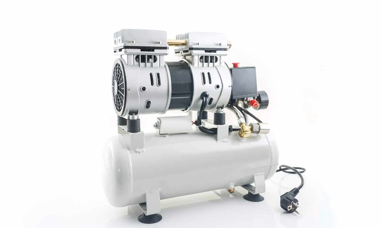 Air compressor on the white background.