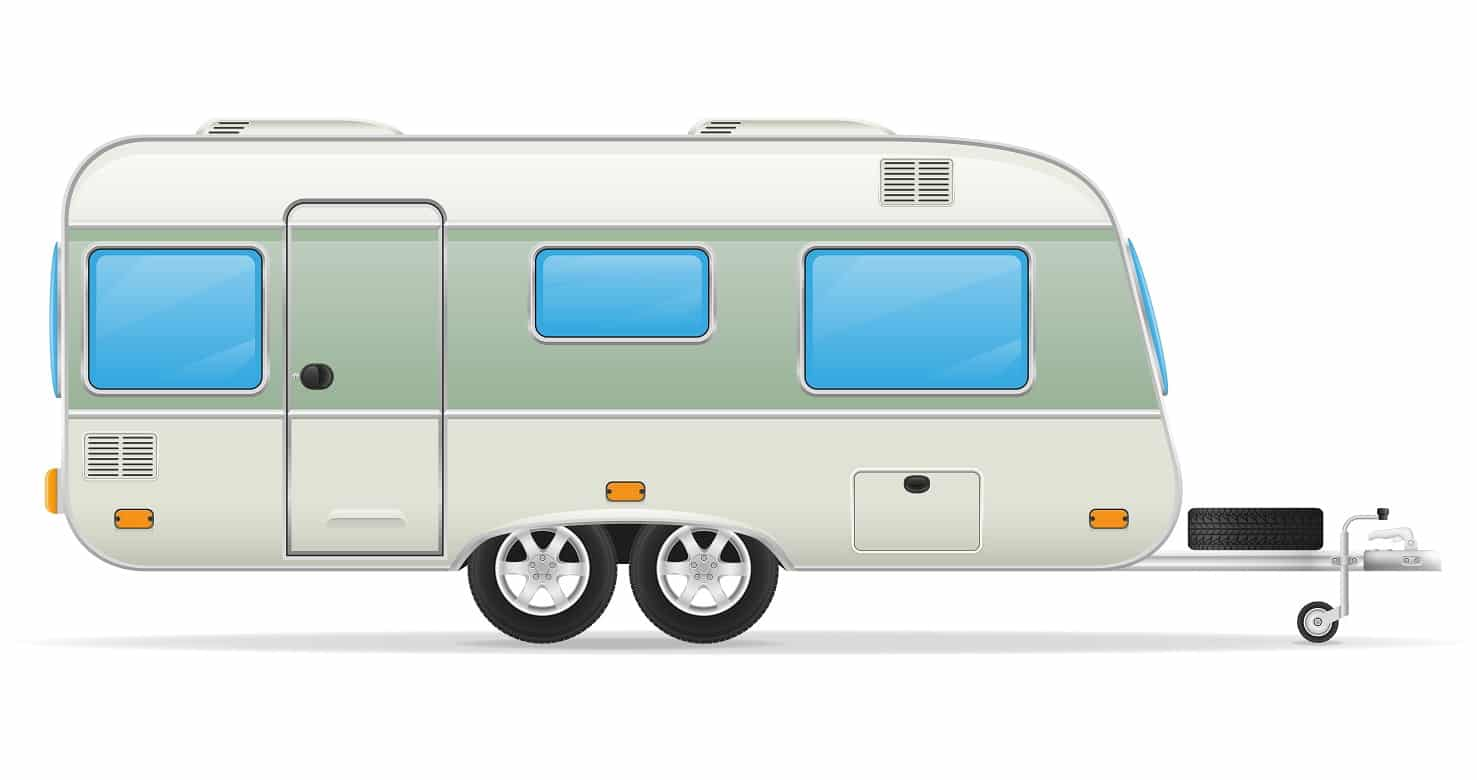 trailer caravan mobil home vector illustration isolated on white background