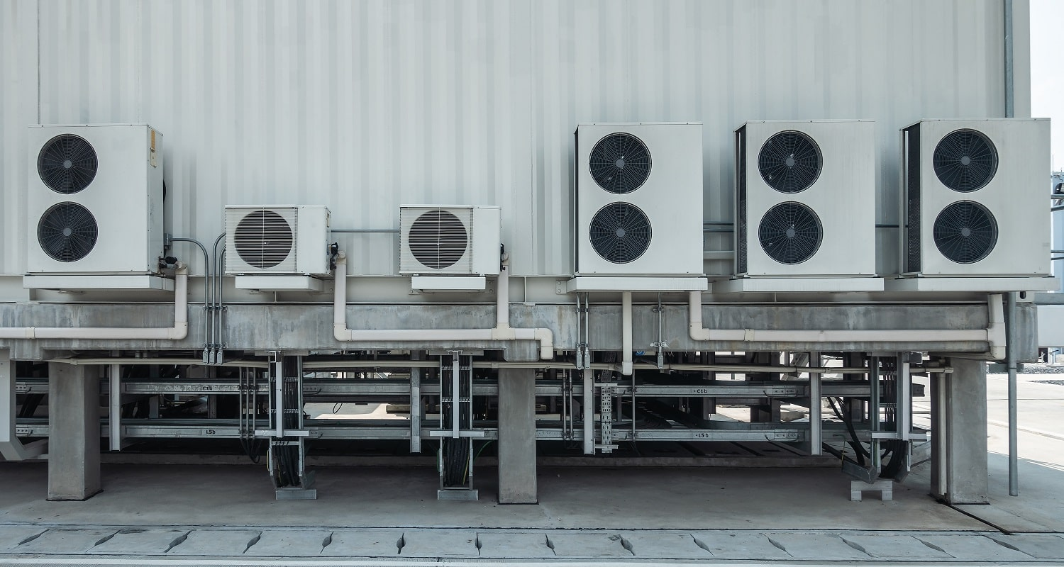 HVAC (Heating, Ventilation and Air Conditioning) spinning Industrial ventilation fan blades