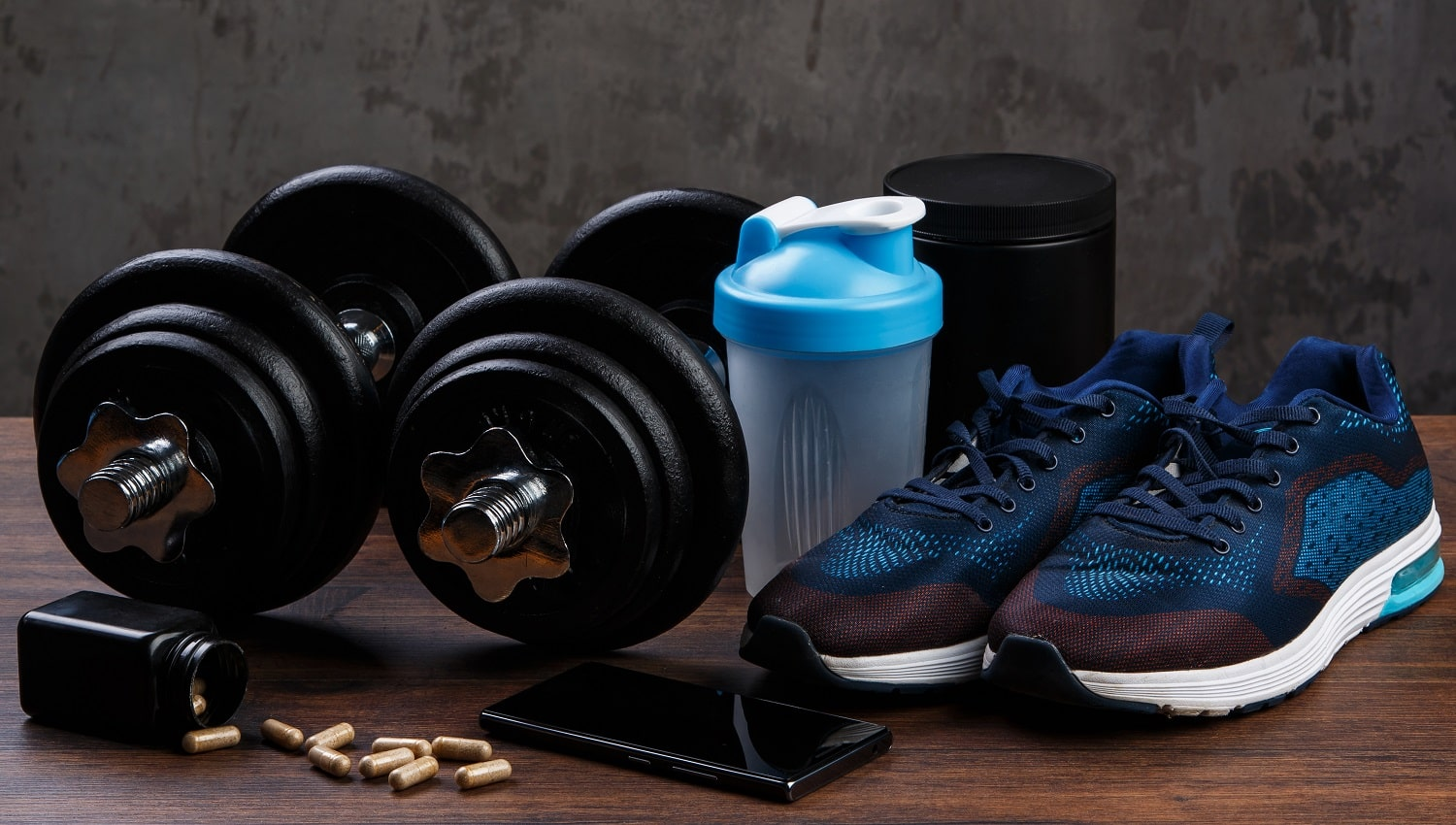 Different items for fitness and workout