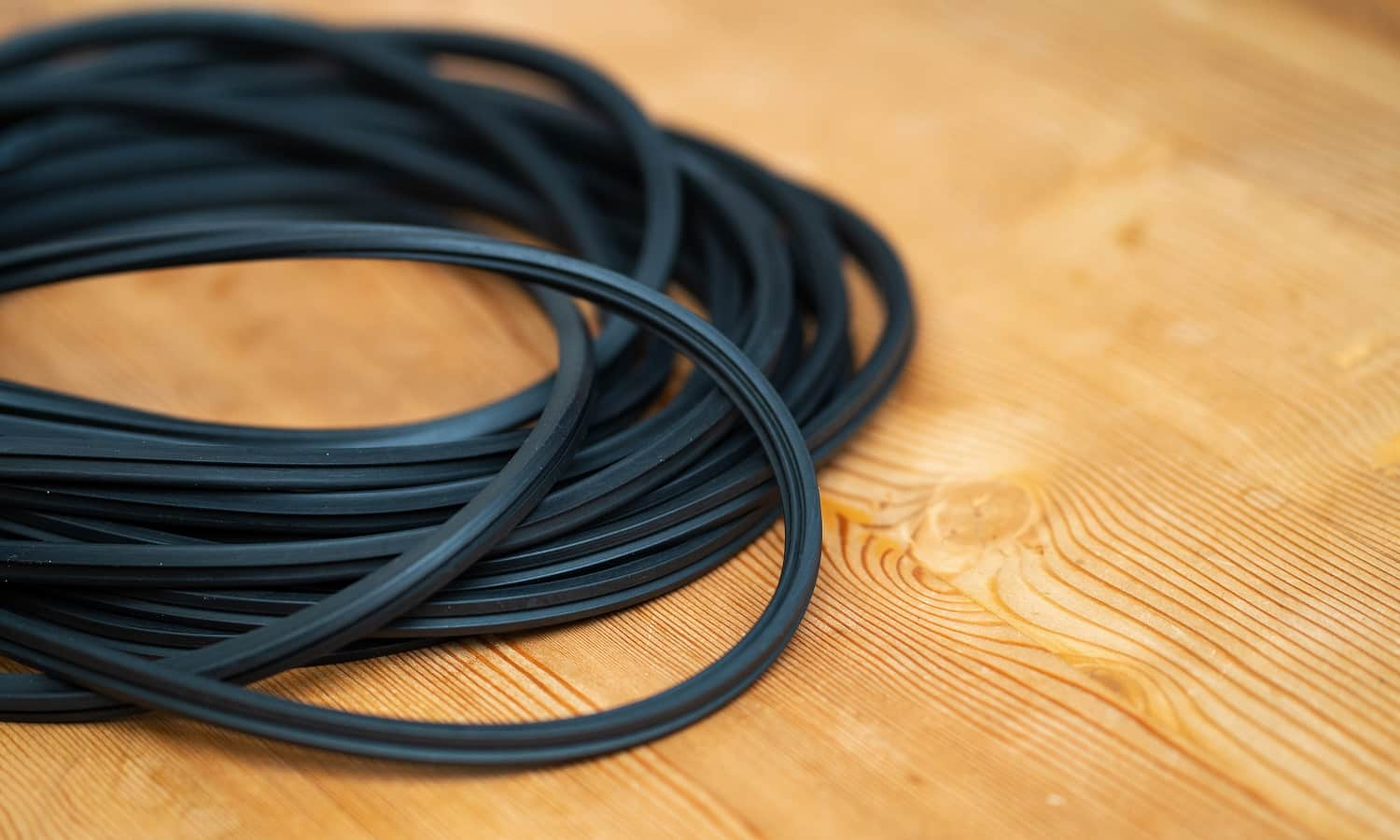 The hank of black rubber seal gasket for pvc windows.