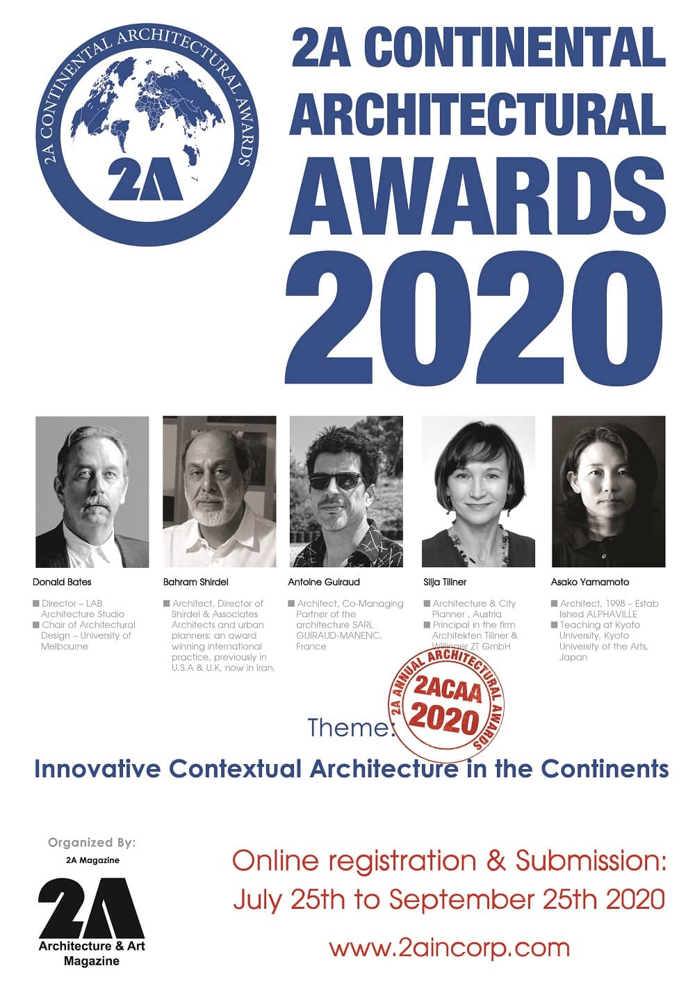 Open Call – 2A Continental Architectural Awards 2020