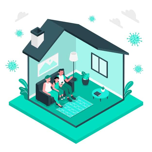 stay home concept illustration 114360 1609