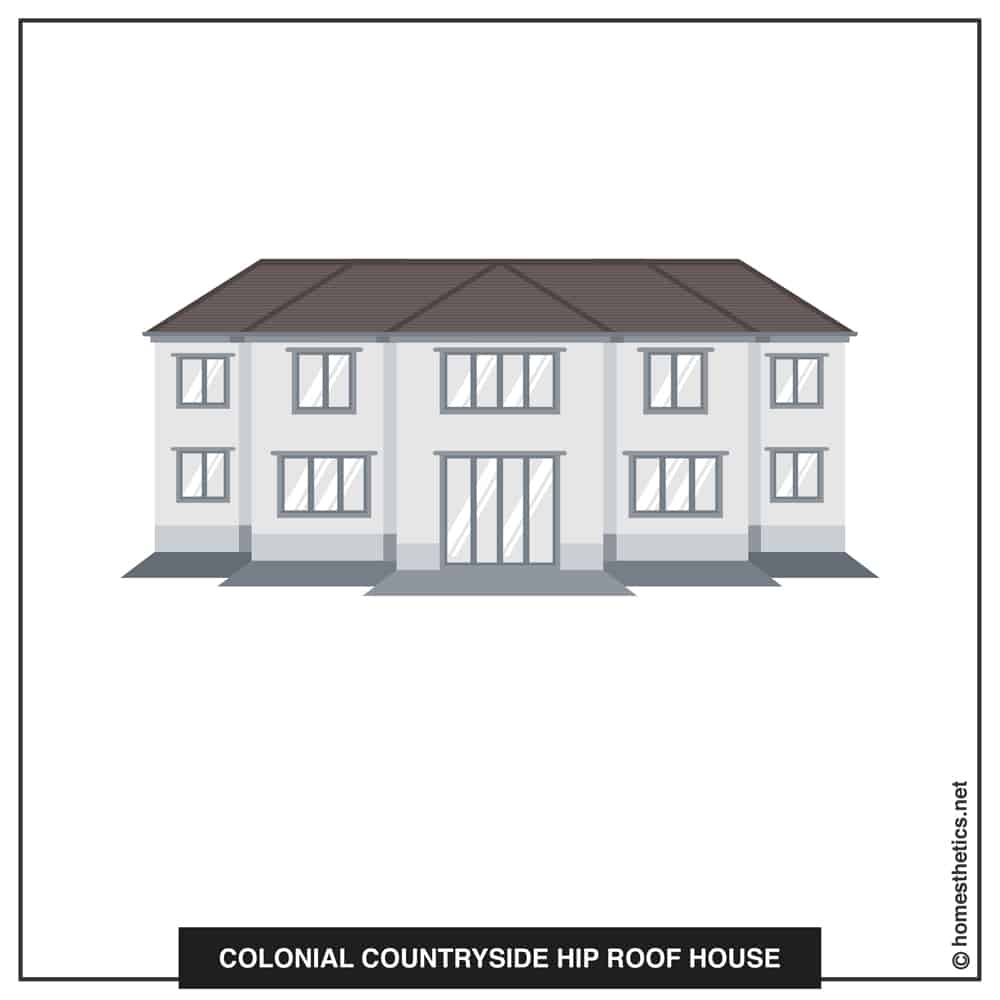 11 Colonial Countryside Hip Roof House