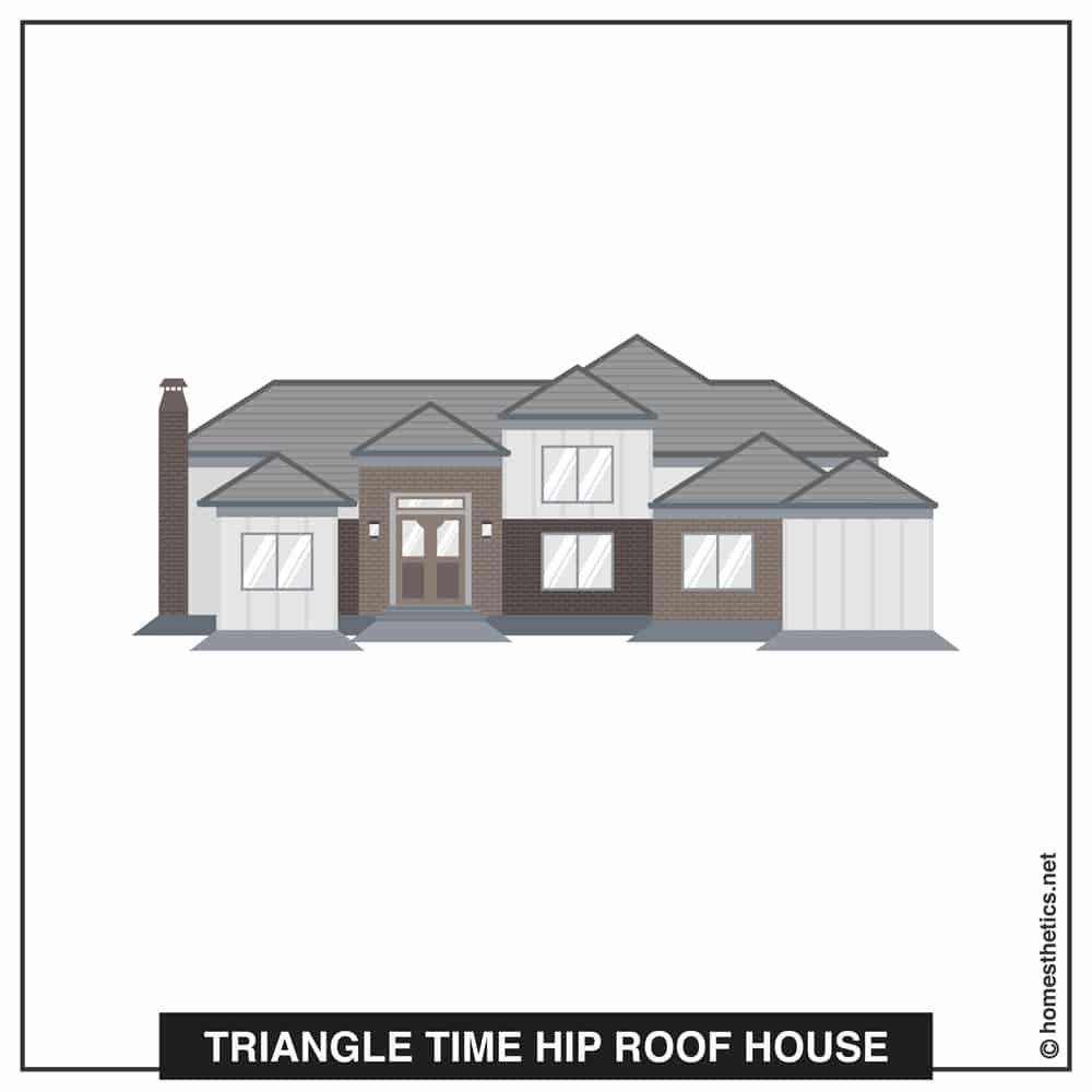12 Triangle Time Hip Roof House