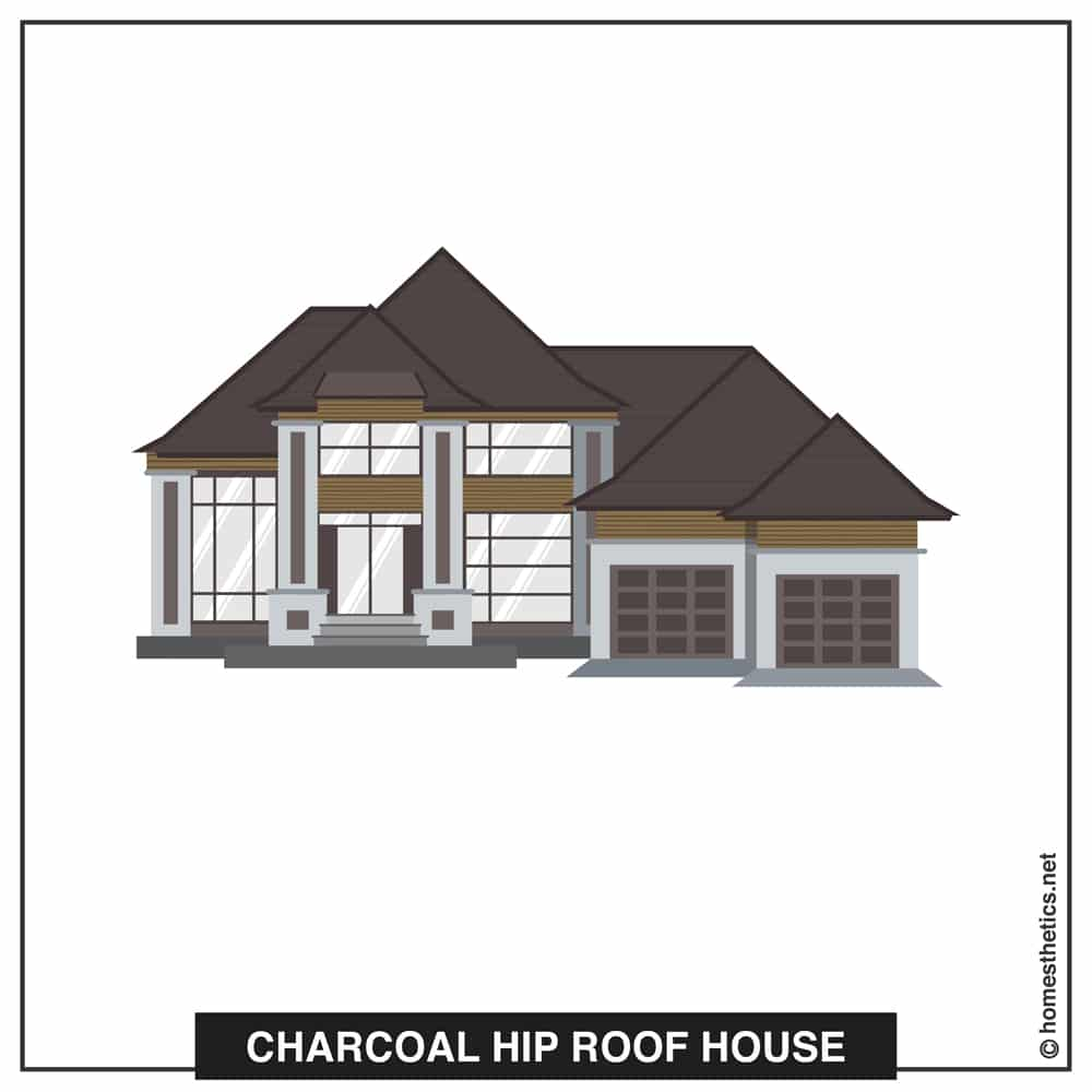 14 Charcoal Hip Roof House