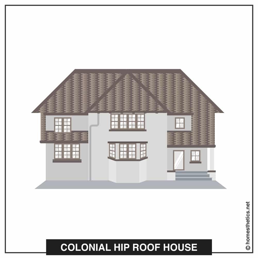 17 Colonial Hip Roof House
