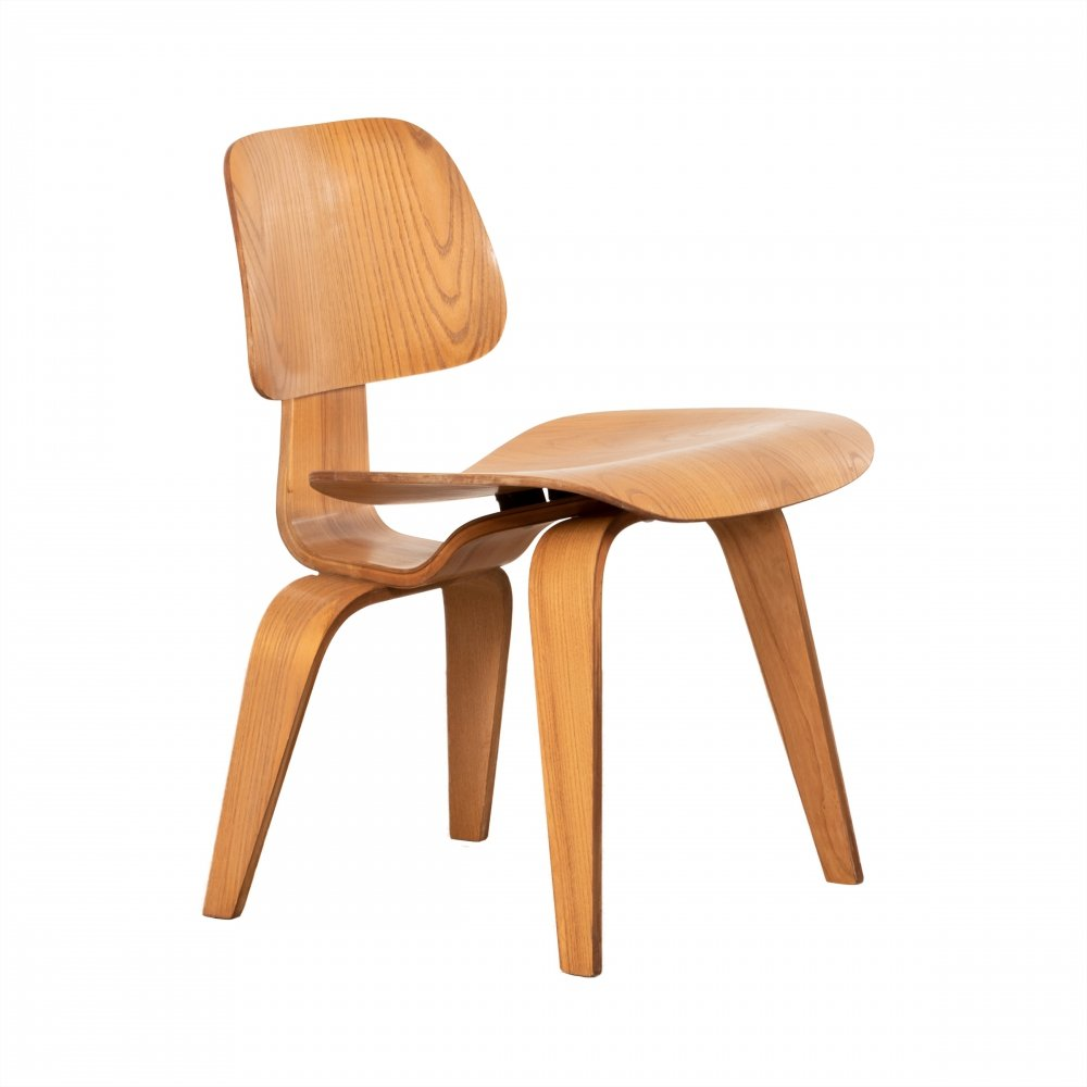 early dcw chair by charles and ray eames for herman miller june 1953