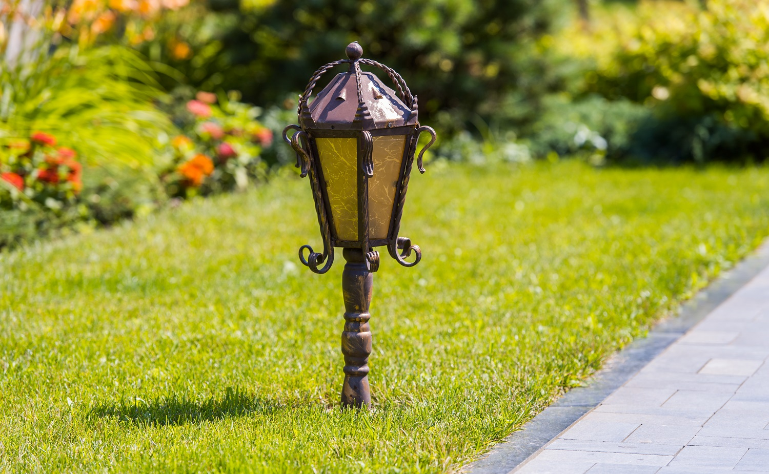 Street light in the garden