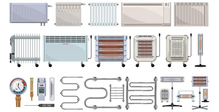 Electric heater vector cartoon set icon. Vector illustration boiler on white background. Isolated cartoon set icons electric heater .