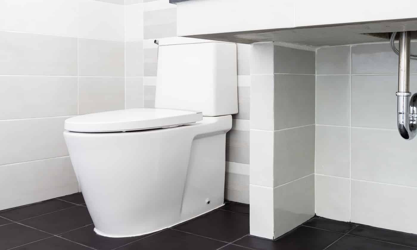 Modern design home bathroom toilet and sink White colur sanitary ware in the bathroom