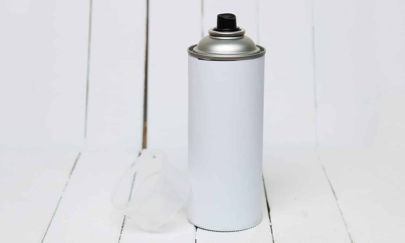 Close up view of an air pressured can blank isolated on a white background.