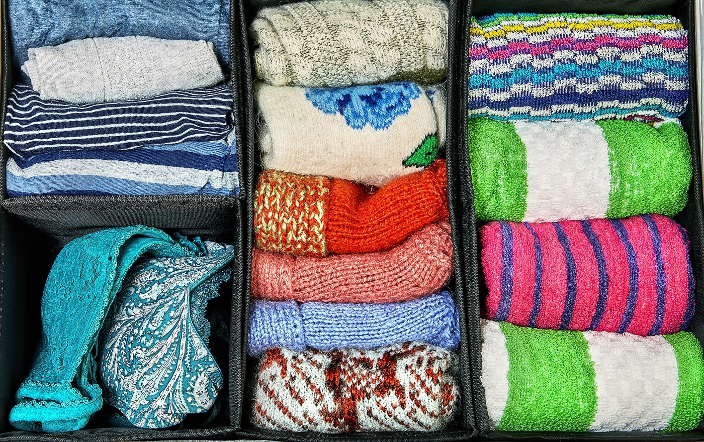 The fabric storage boxes they are organizers for dresser or closet which help divide up drawers and keep things separate.