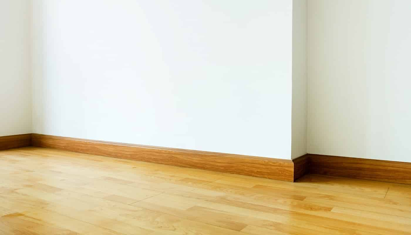 Empty room interior,parquet floor with white wall,house interior.