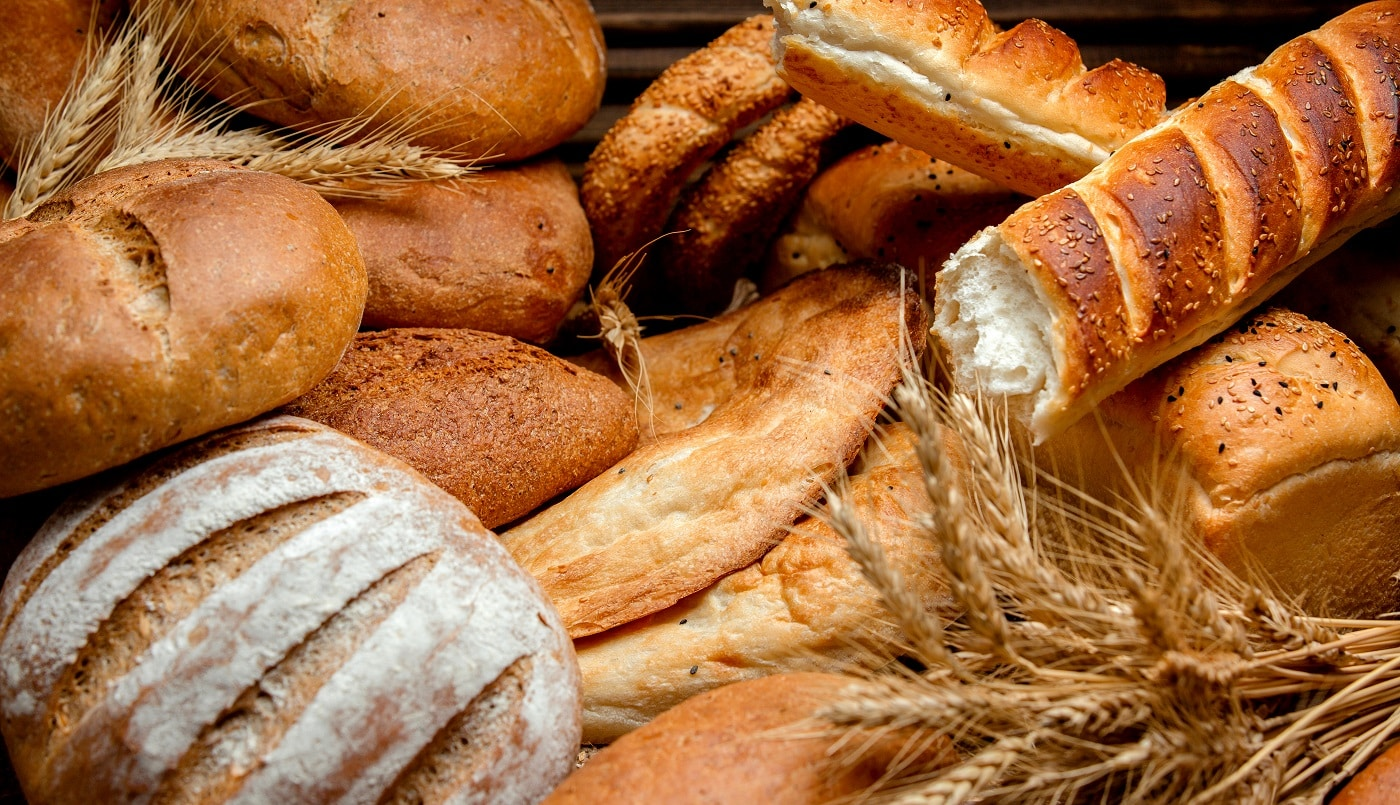 different types of bread made from wheat flour